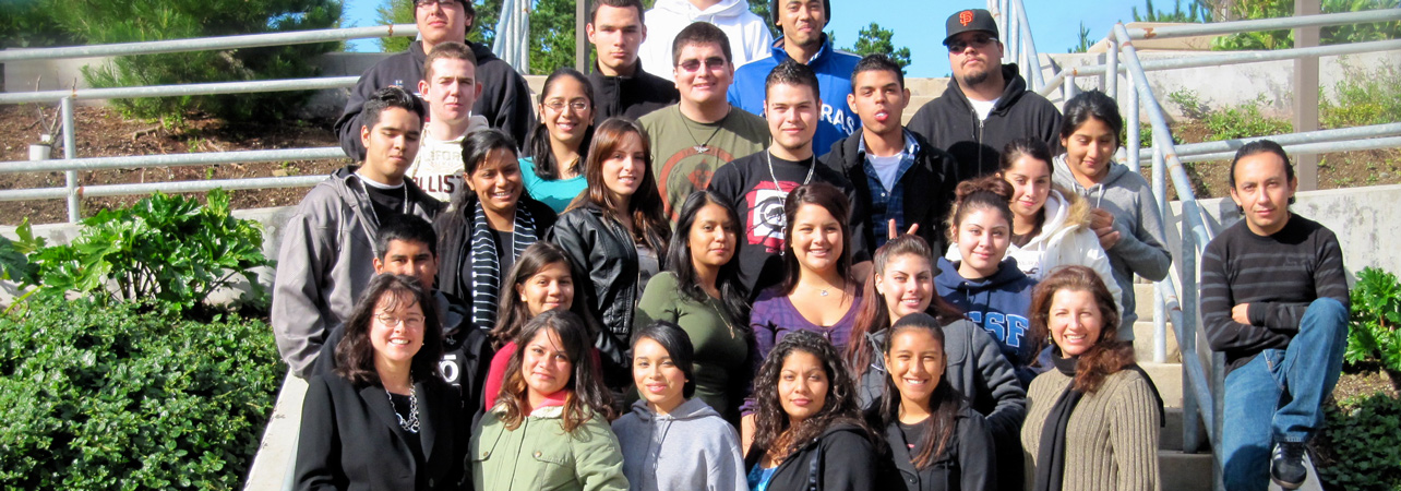 puente students on Skyline College campus