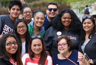 photo of skyline college students
