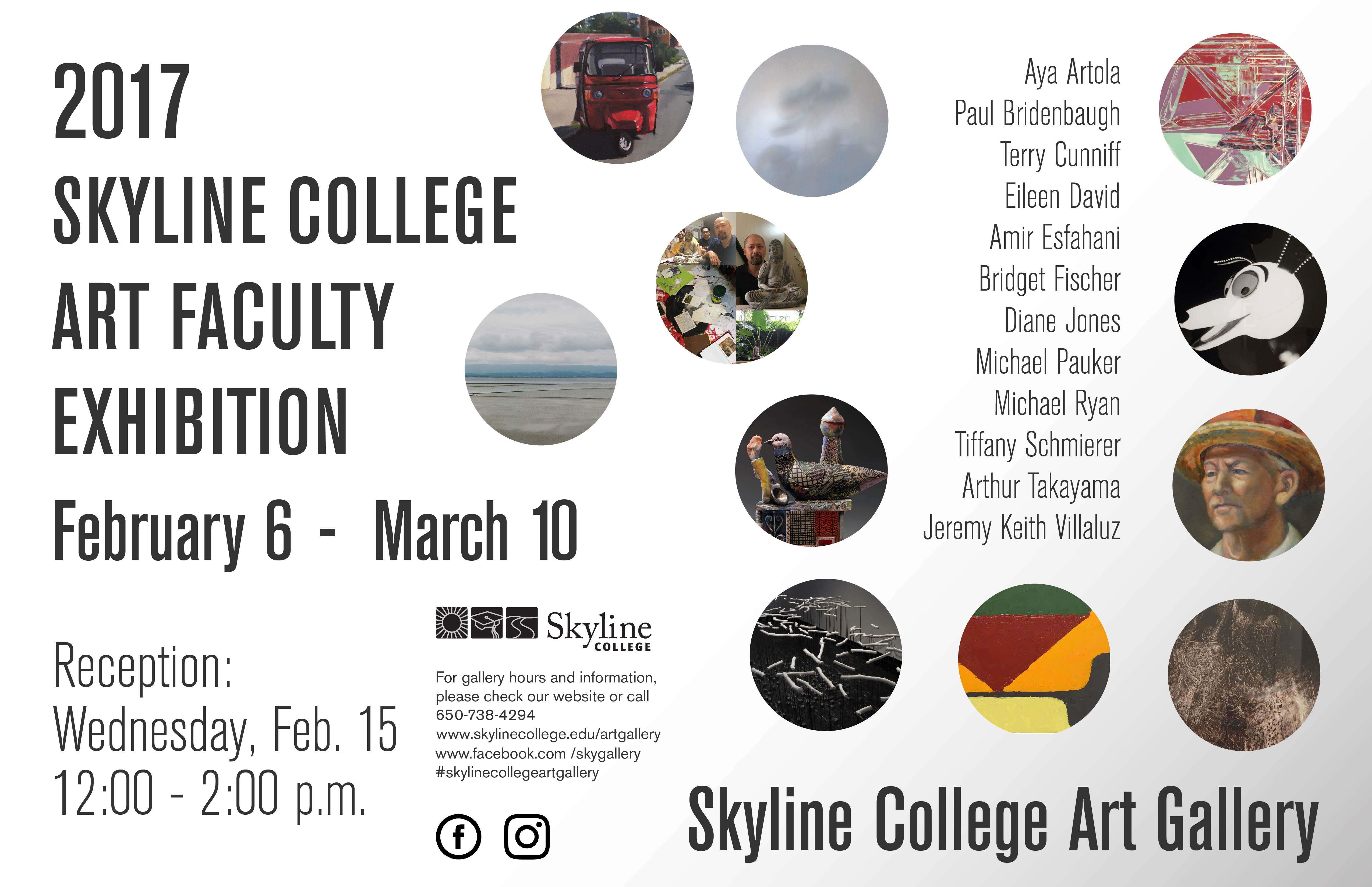 art faculty exhibit poster