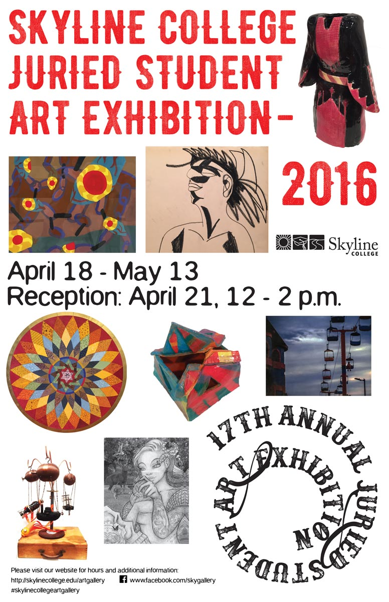 juried art exhibition show banner